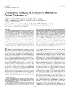 Comparative Analyses of Mechanistic Differences Among Antiestrogens*