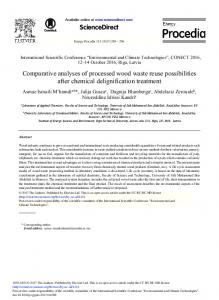 Comparative Analyses of Processed Wood Waste ... - ScienceDirect