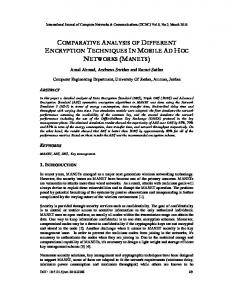 comparative analysis of different encryption ... - Aircc Digital Library