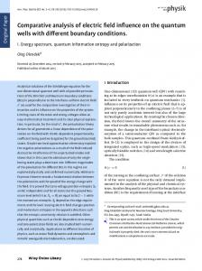 Comparative analysis of electric field influence ... - Wiley Online Library