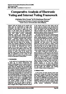 Comparative Analysis of Electronic Voting and Internet Voting ... - IJIR