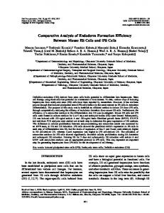 Comparative Analysis of Endoderm Formation ... - IngentaConnect