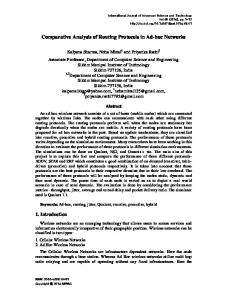 Comparative Analysis of Routing Protocols in Ad-hoc Networks - SERSC