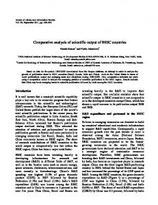 Comparative analysis of scientific output of BRIC countries - NOPR