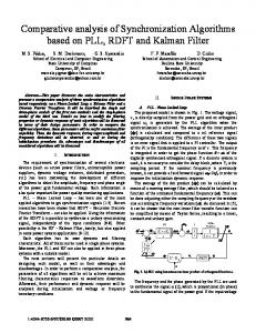 Comparative analysis of Synchronization Algorithms ... - IEEE Xplore