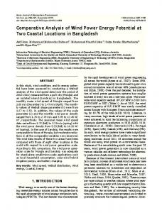 Comparative Analysis of Wind Power Energy ...