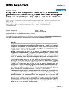 Comparative and phylogenomic studies on the mitochondrial ...
