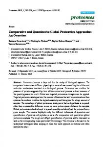 Comparative and Quantitative Global Proteomics ... - Semantic Scholar