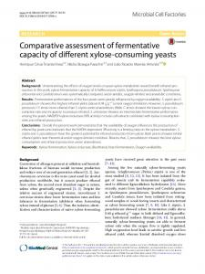 Comparative assessment of fermentative capacity of different xylose ...