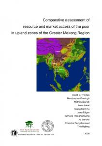 Comparative assessment of resource and market