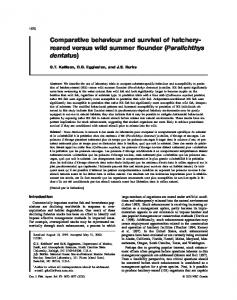 Comparative behaviour and survival of hatchery- reared ... - CMAST