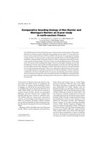 Comparative breeding biology of Hen Harrier and ... - CEBC - CNRS