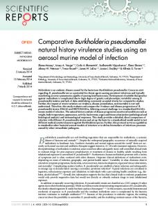 Comparative Burkholderia pseudomallei natural ... - Semantic Scholar