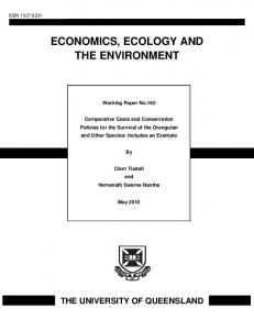 Comparative Costs and Conservation Policies for the ... - AgEcon Search