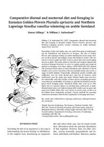 Comparative diurnal and nocturnal diet and foraging in ... - Avibirds