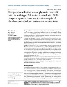 Comparative effectiveness of glycemic control in patients with type 2 ...