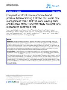 Comparative effectiveness of home blood pressure telemonitoring ...