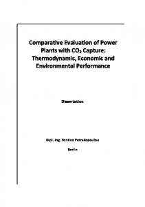 Comparative Evaluation of Power Plants with CO2