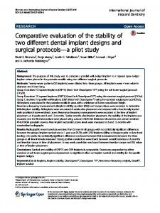 Comparative evaluation of the stability of two different dental implant ...