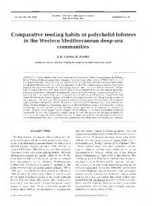 Comparative feeding habits of polychelid lobsters in ... - Inter Research