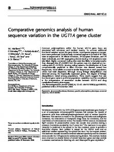 Comparative genomics analysis of human sequence variation ... - Nature