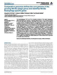 Comparative genomics defines the core genome of the ... - Frontiers