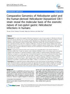 Comparative Genomics of Helicobacter pylori and the ... - BioMedSearch