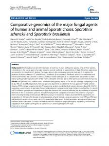 Comparative genomics of the major fungal agents of human and