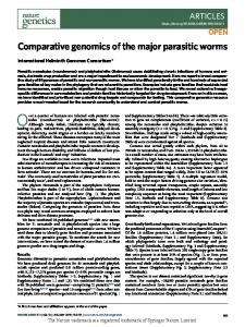 Comparative genomics of the major parasitic worms