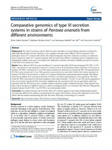 Comparative genomics of type VI secretion systems ... - BioMedSearch