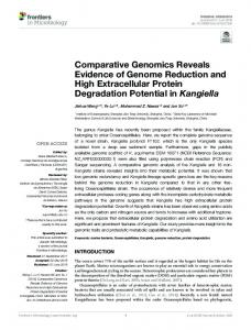 Comparative Genomics Reveals Evidence of Genome ...