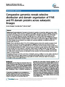 Comparative genomics reveals selective distribution and domain ...