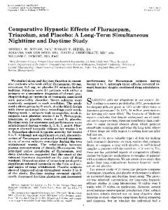 Comparative Hypnotic Effects of Flurazepam