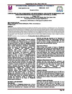 comparative in vitro anthelmintic and phytochemical evaluation of ...