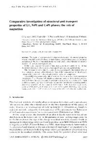 Comparative investigation of structural and transport ...
