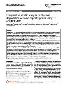 Comparative kinetic analysis on thermal degradation ... - BioMedSearch