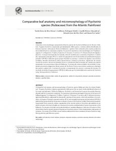 Comparative leaf anatomy and micromorphology of Psychotria ...