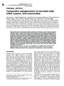 Comparative metagenomics of microbial traits within oceanic ... - Nature