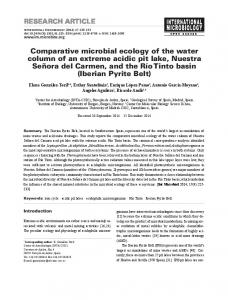 Comparative microbial ecology of the water column of an extreme ...