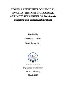COMPARATIVE PHYTOCHEMICAL EVALUATION ...
