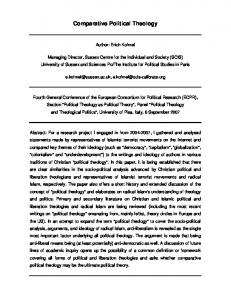 Comparative Political Theology - PhilPapers