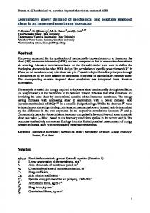 Comparative power demand of mechanical and ...