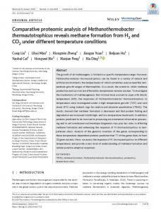 Comparative proteomic analysis of
