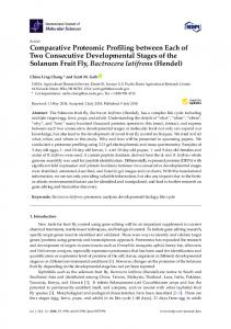 Comparative Proteomic Profiling between Each of ...