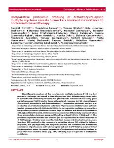 Comparative proteomic profiling of refractory/relapsed ...