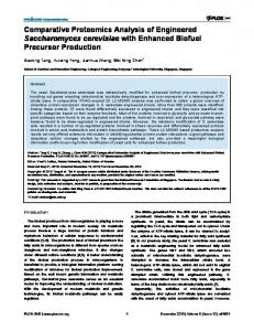 Comparative Proteomics Analysis of Engineered