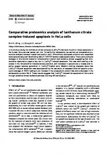 Comparative proteomics analysis of lanthanum citrate ... - Springer Link