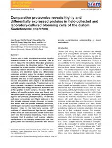 Comparative proteomics reveals highly and differentially expressed ...