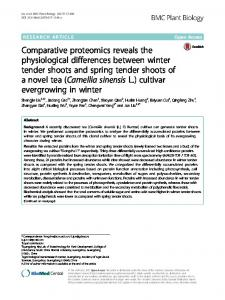 Comparative proteomics reveals the ... - BMC Plant Biology