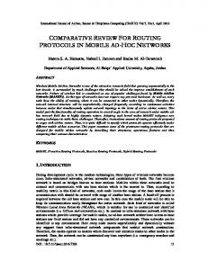 comparative review for routing protocols in mobile ad-hoc networks